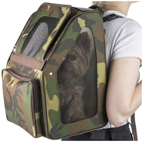 - Rio Camo 3-In-1 Dog Carrier On Wheels