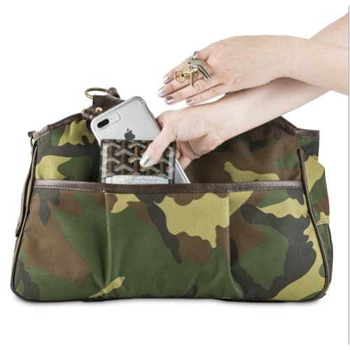 - Metro Camo & Brown Leather Dog Carrying Bag
