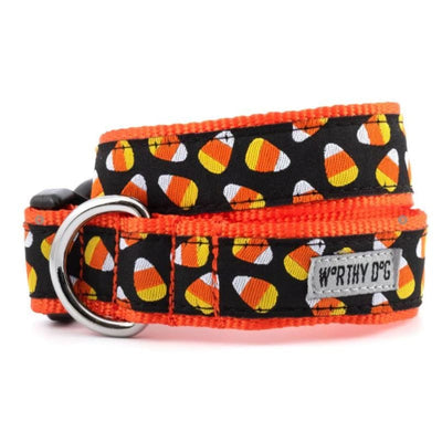 Candy Corn Collar & Leash Collection bling dog collars, cute dog collar, dog collars, fun dog collars, leather dog collars