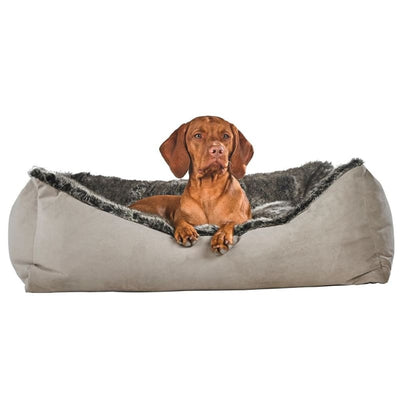 - Chinchilla Faux Fur Scoop Dog Bed bolster beds for dogs luxury dog beds memory foam dog beds NEW ARRIVAL orthopedic dog beds