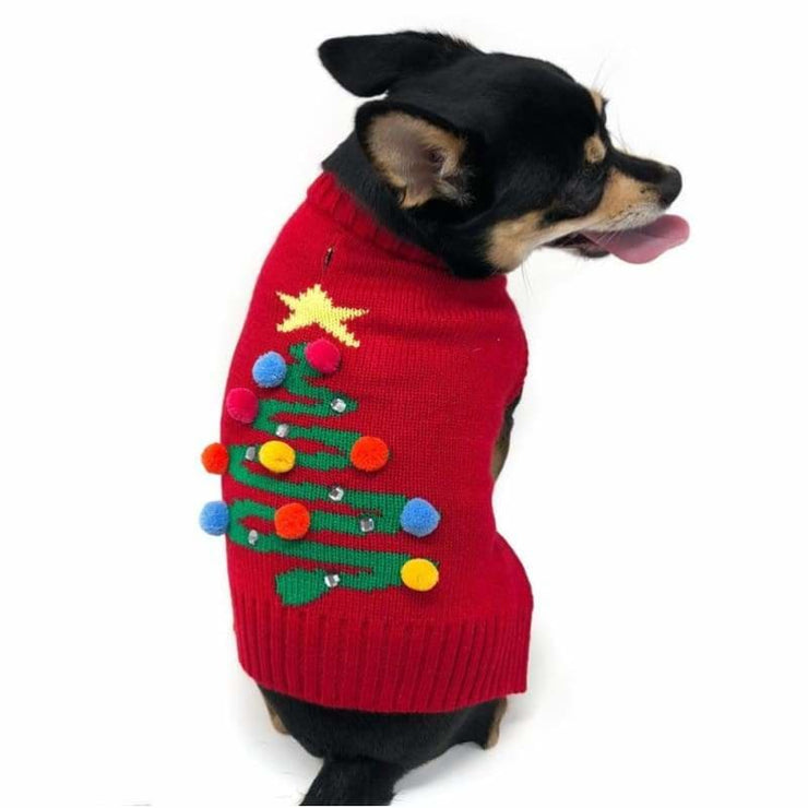 - The Christmas Tree Dog Sweater Dog Sweater New Arrival