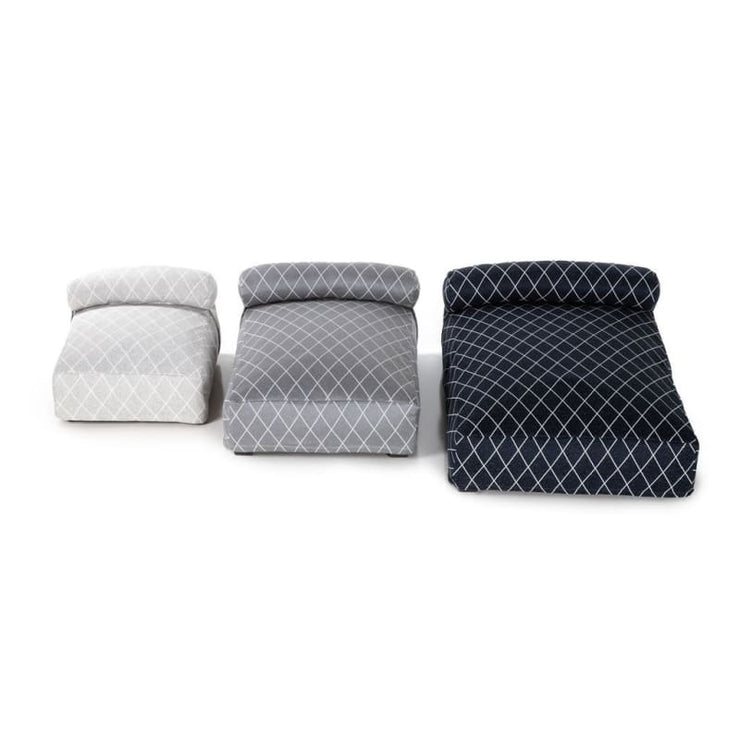 - Club Nine Pets Orthopedic Contempo Slipcover Dog Bed Silver NEW ARRIVAL