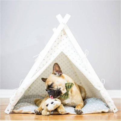 The Dottie Pet TeePee etsy, luxury dog beds, teepee dog beds, teepee for dogs