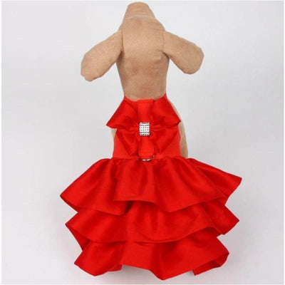 Madison Dog Dress in Red Pepper NEW ARRIVAL