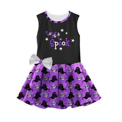 Halloween Too Cute To Spook Harness Dress With Matching Leash clothes for small dogs, cute dog apparel, cute dog clothes, cute dog dresses,