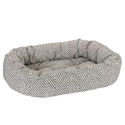 Diamondback Micro Jacquard Donut Dog Bed bagel beds for dogs, bolster beds for dogs, cute dog beds, donut beds for dogs, luxury dog beds
