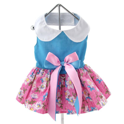 - Plumeria Floral Dog Dress With Mathing Leash New Arrival