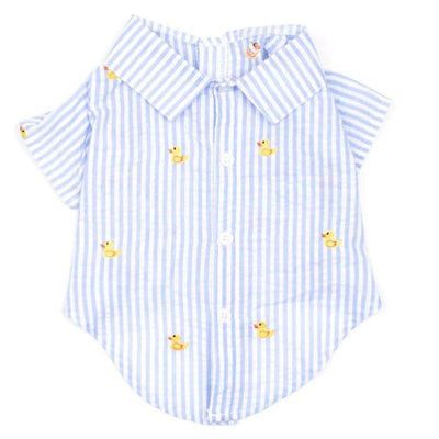 - Blue Stripe Rubber Ducky Dog Shirt NEW ARRIVAL WORTHY DOG