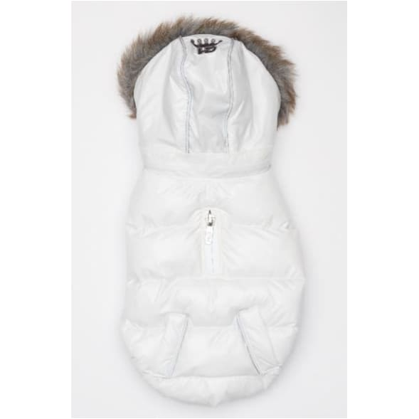 Winter White Elite Reflective Puffer Coat clothes for small dogs, COATS, cute dog apparel, cute dog clothes, dog apparel