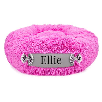 Perfect Pink & Platinum Customizable Dog Bed NEW ARRIVAL