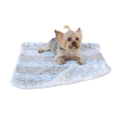 - Frosted Snow Minkie Binkie Dog Blankie New Arrival