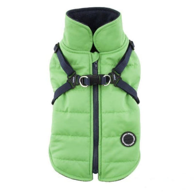 - Mountaineer II Green Dog Vest With Harness clothes for small dogs cute dog apparel cute dog clothes dog apparel dog sweaters