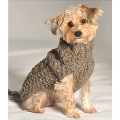 - Cable Knit Wool Dog Sweater in Gray clothes for small dogs cute dog apparel cute dog clothes dog apparel dog hoodies