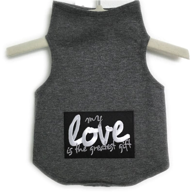 - My Love Is The Greatest Gift Dog Tank Top Valentine Valentines