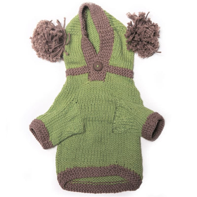 - The Taylor - Green Hand Knit Dog Hoodie Dog In The Closet New Arrival