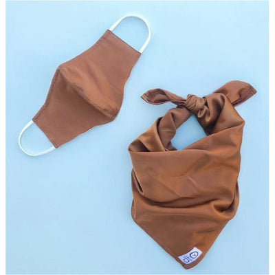 Hazelnut Silk Mask with Matching Dog Bandana NEW ARRIVAL