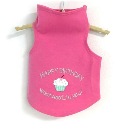 Happy Birthday Dog Tank Top clothes for small dogs, cute dog apparel, cute dog clothes, dog apparel, dog sweaters