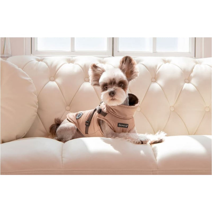 - Mountaineer II Beige Dog Vest With Harness clothes for small dogs cute dog apparel cute dog clothes dog apparel dog sweaters