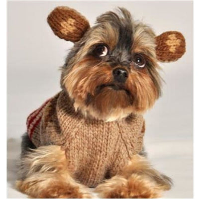 - Hand-Knit Wool Monkey Hoodie For Dogs Sweaters