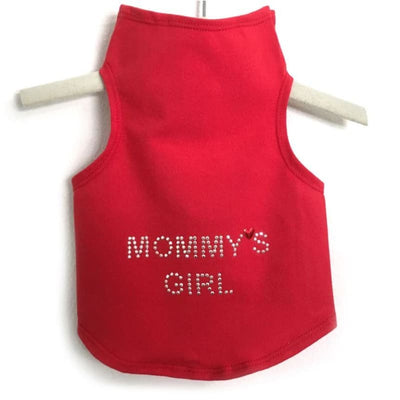 Mommy's Girl Dog Tank Top clothes for small dogs, cute dog apparel, cute dog clothes, dog apparel, dog sweaters