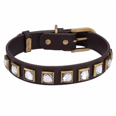 Monte Carlo Brown Genuine Leather Dog Collar NEW ARRIVAL