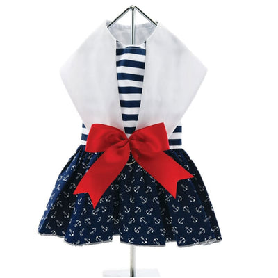 - Nautical Dog Dress With Matching Leash New Arrival