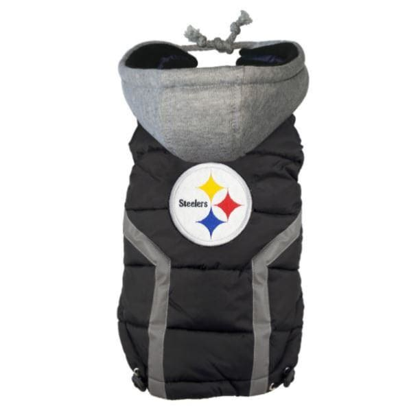 NFL Pittsburgh Steeler Dog Puffer Vest NEW ARRIVAL