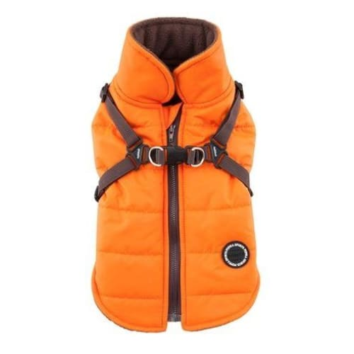 - Mountaineer II Orange Dog Vest With Harness clothes for small dogs cute dog apparel cute dog clothes dog apparel dog sweaters