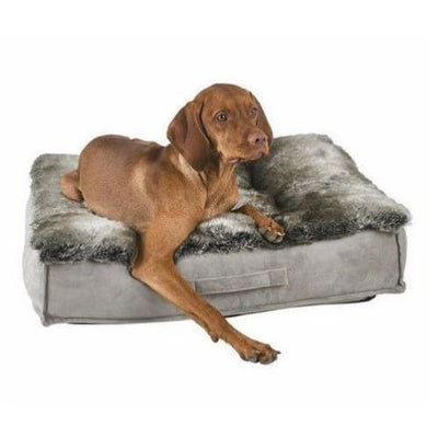 Chinchilla Faux Fur & Faux Sheepskin Piazza Dog Bed NEW ARRIVAL