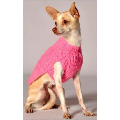 Pink Cable Knit Dog Sweater clothes for small dogs, cute dog apparel, cute dog clothes, dog apparel, dog hoodies