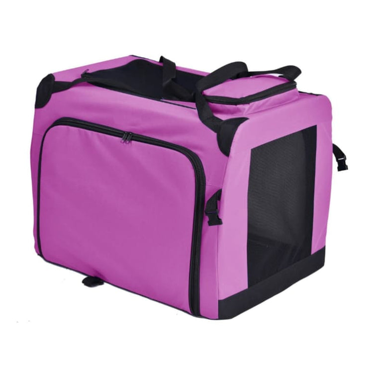 - Hounda Accordian Expandable Dog Crate in Pink