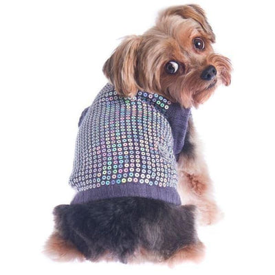 Party Girl Sequined Sweater clothes for small dogs, cute dog apparel, cute dog clothes, dog apparel, dog sweaters