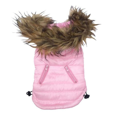 - Pink Ski Bunny Puffer Dog Coat with Detachable Hood NEW ARRIVAL