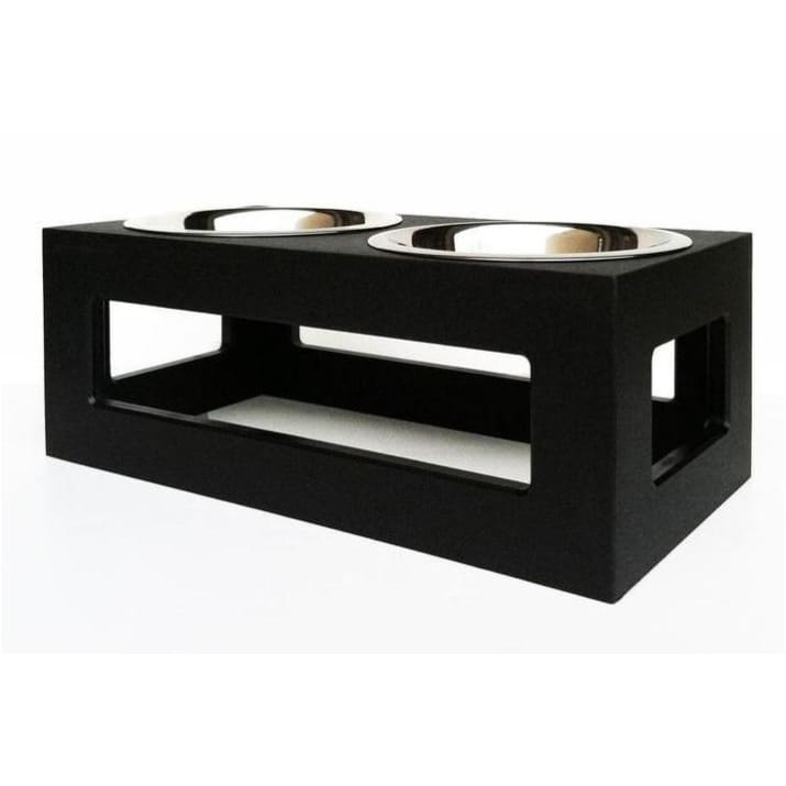 - Porchside Outdoor Double Diner Dog Feeder Black NEW ARRIVAL