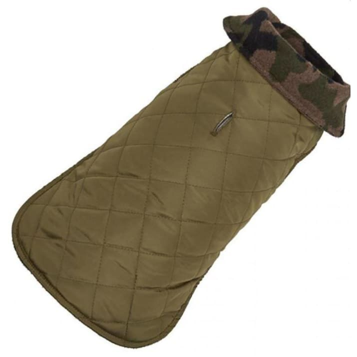 - Camo Quilted Revesible Dog Coat NEW ARRIVAL