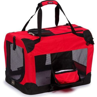 360° Vista-View Collapsible Travel Folding Pet Crate in Red NEW ARRIVAL