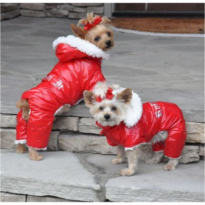 - Red Ruffin It Doggie Snowsuit clothes for small dogs COATS cute dog apparel cute dog clothes dog apparel