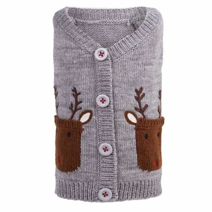 - Reindeer Dog Hoodie Cardigan clothes for small dogs cute dog apparel cute dog clothes dog apparel dog hoodies