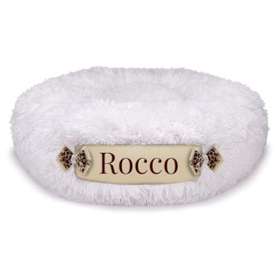 Cream Shag & Fawn Customizable Dog Bed NEW ARRIVAL