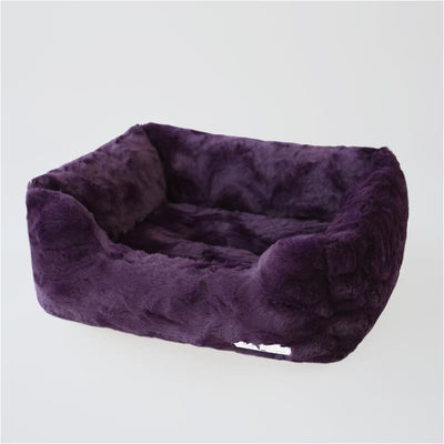 Bella Dog Bed in Purple bolster beds for dogs, doggie designs, luxury dog beds, memory foam dog beds, orthopedic dog beds