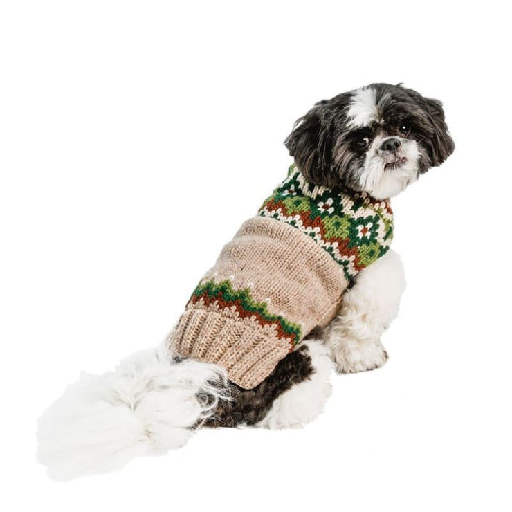 Ragg Wool Fairisle Dog Sweater clothes for small dogs, cute dog apparel, cute dog clothes, dog apparel, dog hoodies