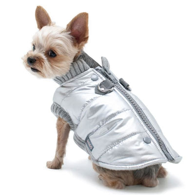 - Runner Dog Coat Silver clothes for small dogs COATS cute dog apparel cute dog clothes dog apparel