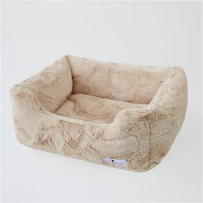 Luxe Dog Bed in Sand bolster beds for dogs, luxury dog beds, memory foam dog beds, orthopedic dog beds