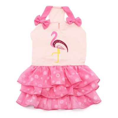 - Sequin Flamingo Dog Dress Coats Dresses New Arrival