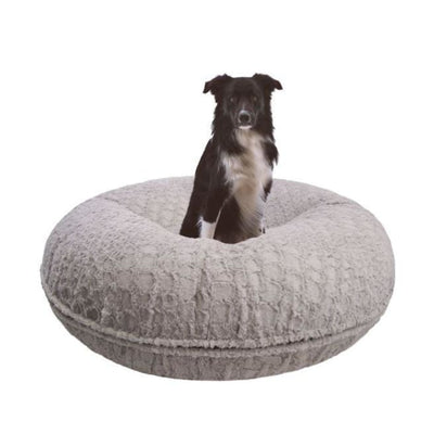 Serenity Gray Bagel Bed bagel beds for dogs, cute dog beds, donut beds for dogs, NEW ARRIVAL