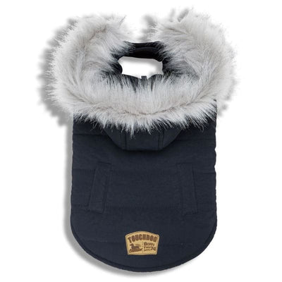 - Touchdog Eskimo-Swag Duck-Down Navy Parka Dog Coat NEW ARRIVAL