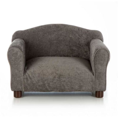 - Orthopedic Gray Velvet Traditional Dog Chair