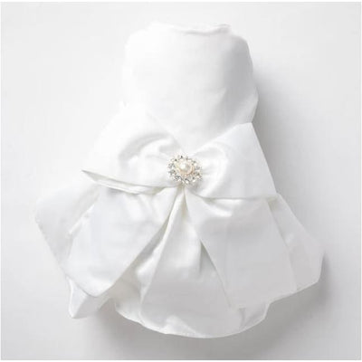 Windsor White Satin Bridal Dog Gown