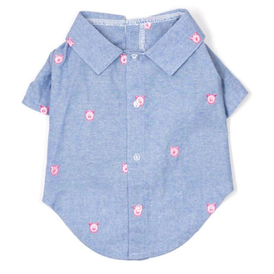 - Wilbur Pig Chambray Dog Shirt New Arrival Worthy Dog