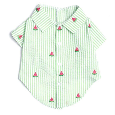 - Green Stripe Watermelon Dog Shirt NEW ARRIVAL WORTHY DOG
